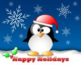 happy holidays tux